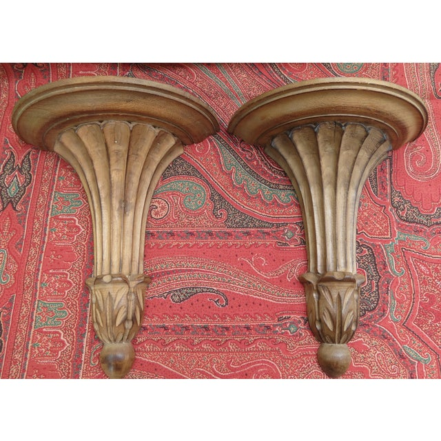 Italian Classical Wall Brackets - A Pair - Image 2 of 8