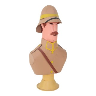 Vintage Michael Collins Paper Sculpture of British Officer For Sale