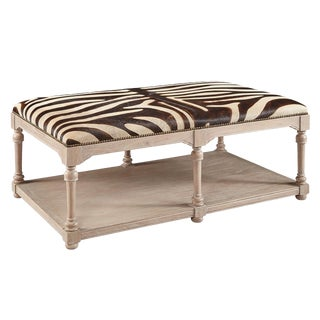 Large Zebra Cocktail Ottoman For Sale