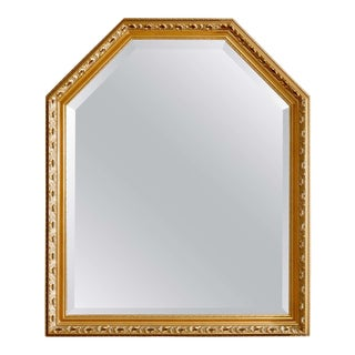 Vintage Large Continental Style Giltwood Wall Mirror, 20th Century For Sale
