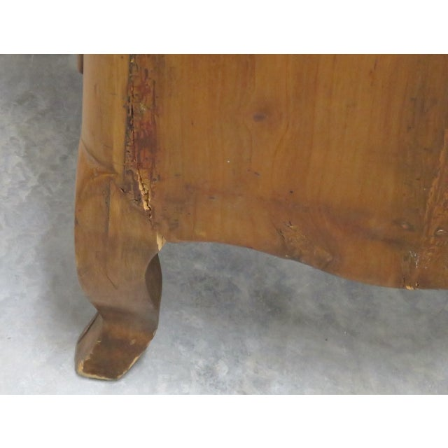 French-Style Marbletop Abbatant Desk - Image 6 of 6