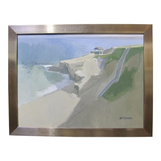 Modern La Jolla Cove California Seascape Oil Painting by Paul Strahm For Sale