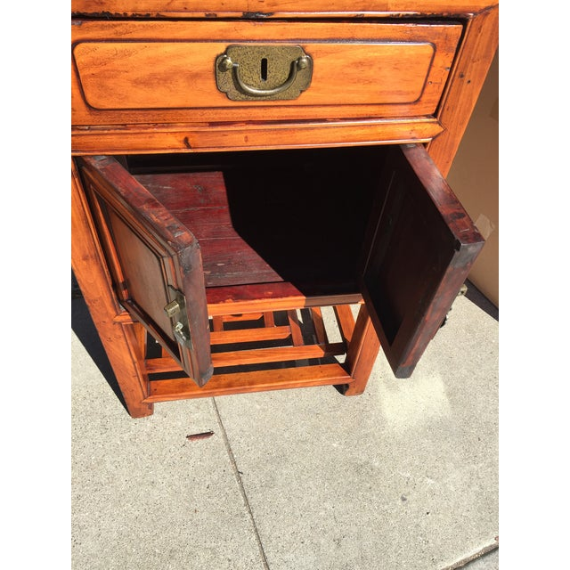 """20th century Chinese Elmwood Cabinet . In excellent condition, This measures 19"""" wide x 15"""" deep x 33"""" tall. Decorative..."""