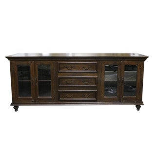 Traditional Wooden Media Console