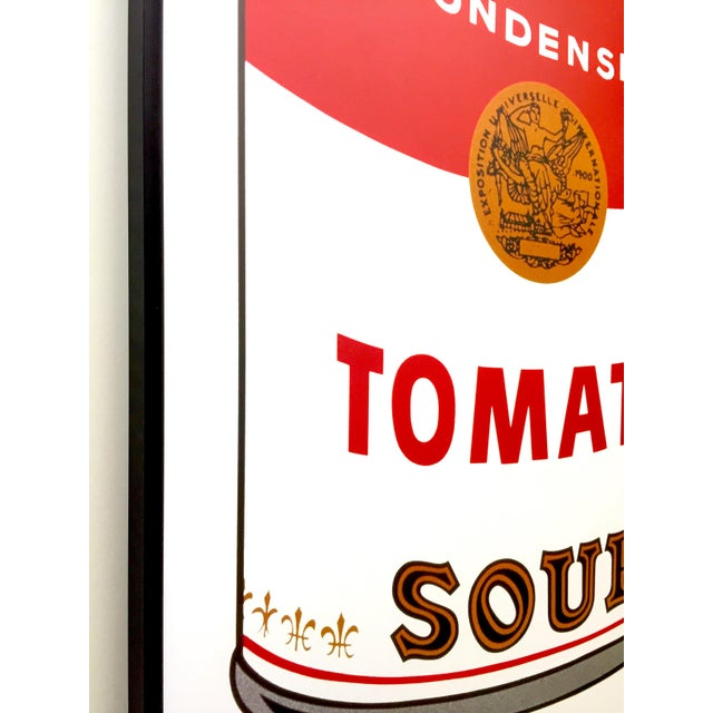 """2000 - 2009 Andy Warhol Foundation Vintage Large Framed Lithograph Print Iconic Pop Art Poster """" Campbell's Soup I ( Tomato ) """" 1968 For Sale - Image 5 of 13"""