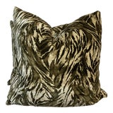 """Image of G P & J Baker """"Tiger Tiger Bengal"""" 22"""" Pillows-A Pair For Sale"""