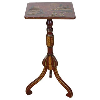 19th Century English Chinoiserie Side Table For Sale