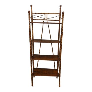 19th Century Victorian 4 Tier Bamboo Etagere For Sale