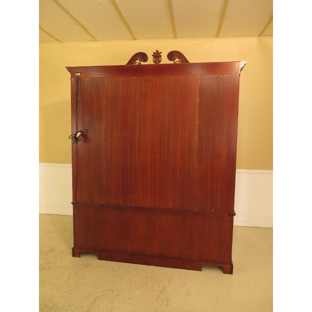 Kindel Four Door Mahogany Breakfront China Cabinet For Sale - Image 11 of 13