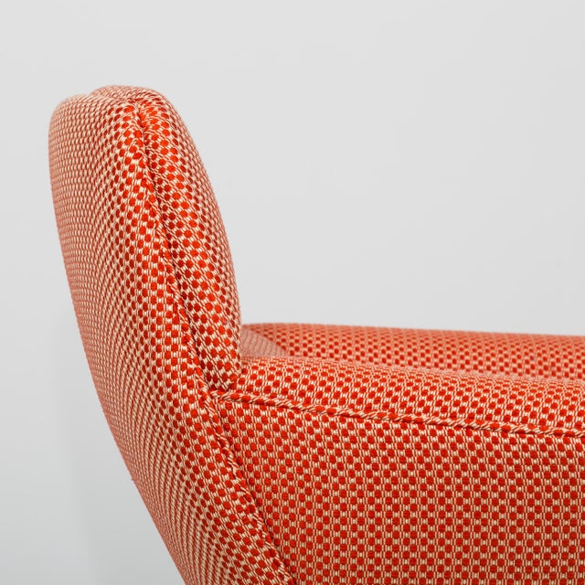 Textile A Danish Leif Hansen attributed Upholstered Armchair 1950s For Sale - Image 7 of 9