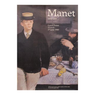 Original 1983 French Exhibition Poster, Manet 1832-1883