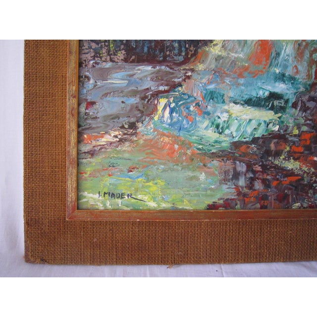 J. Mader Signed Mid Century Painting - Image 4 of 7