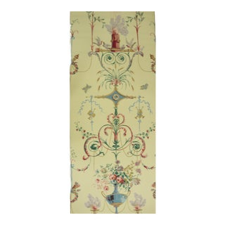 Schumacher 18th Cent Collection 'Terracina Arabesque' Jonquil Color Wallpaper For Sale
