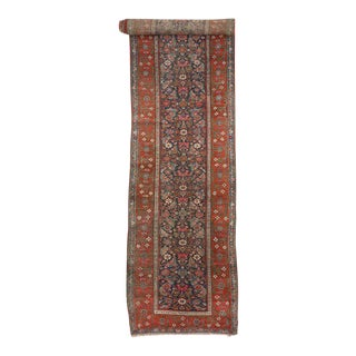 Antique Malayer Persian Runner with Modern Style For Sale