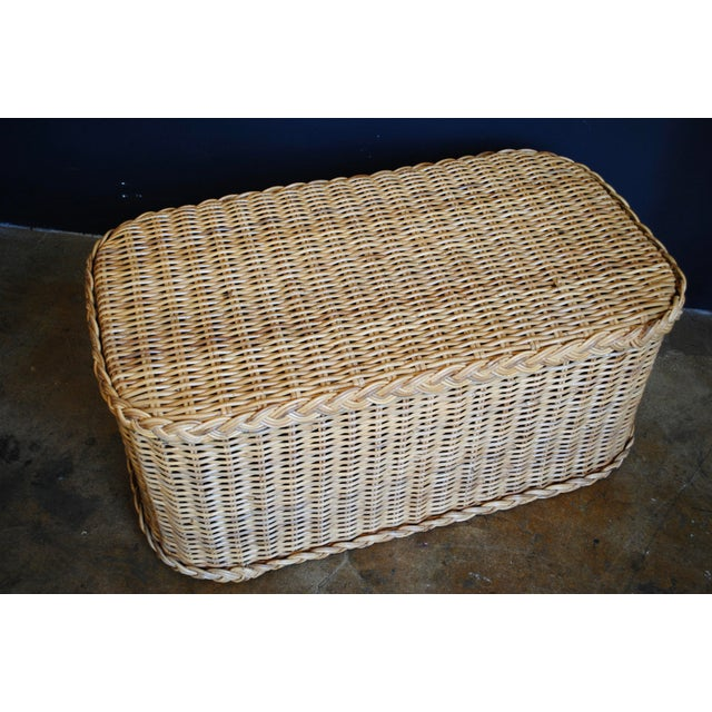 Vintage Rattan Coffee Table / Bench - Image 3 of 6