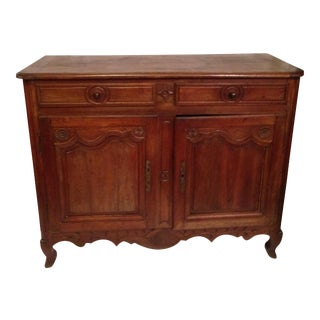 19th Century French Provencal Louis XV Walnut Buffet