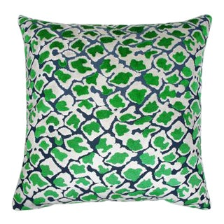 """Kendrick Pillow, Emerald, 22""""x22"""" For Sale"""