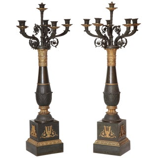Pair of French Empire Candelabra For Sale