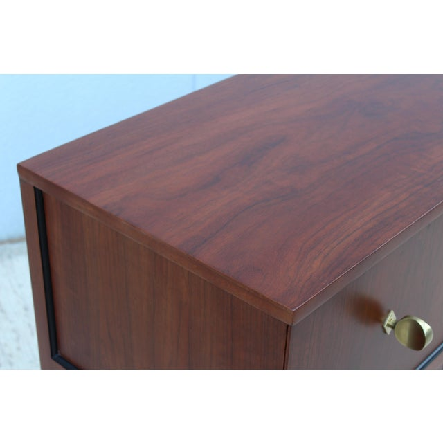 Brass Gilbert Rohde For Herman Miller Paldao Wood Dresser For Sale - Image 7 of 11