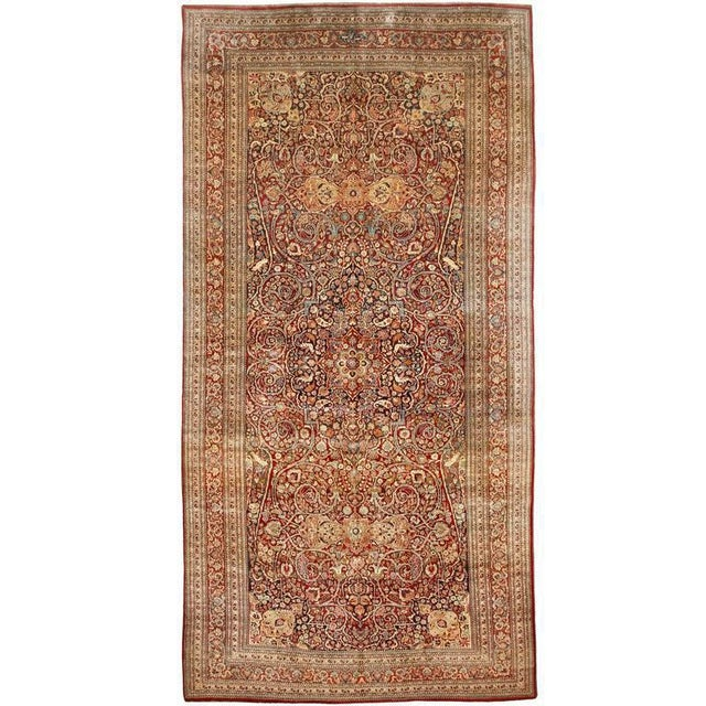 Exceptional extremely fine antique Persian meshed gallery carpet. Contact dealer Excellent condition.