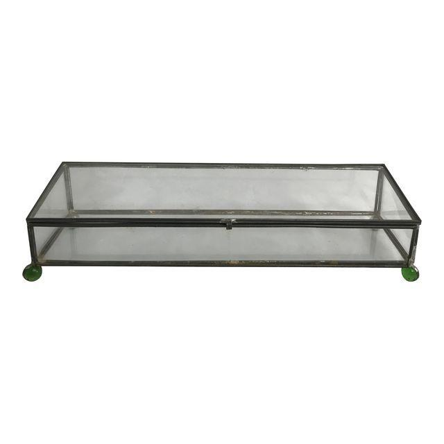 Rectangular Glass Box on 4 Marble Feet - Image 8 of 8