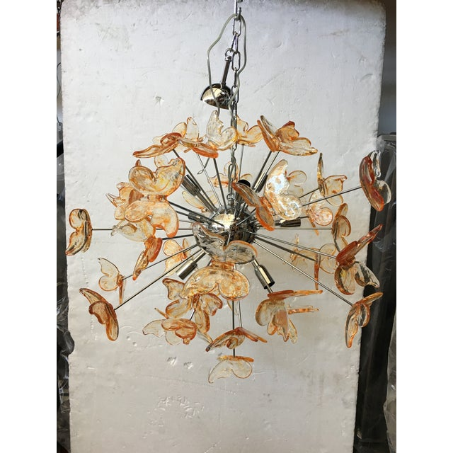 Murano Glass Butterfly Sputnik Chandelier For Sale - Image 6 of 12