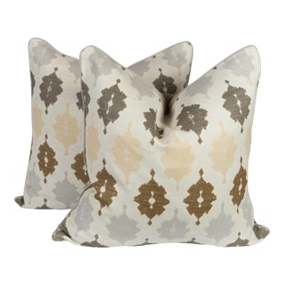Linen & Velvet Tunis Pillows - A Pair