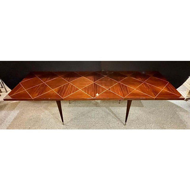 A Tommi Parzinger Originals Dining Table Fully Refinished With Two Leaves For Sale - Image 12 of 13