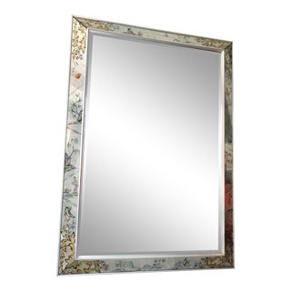 Late 20th Century Vintage Hollywood Regency Wall Mirror For Sale