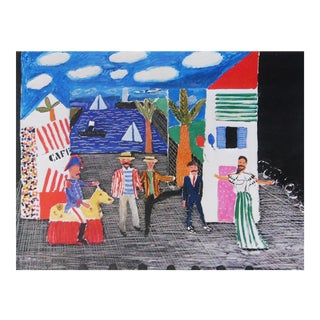 "1980s David Hockney ""Les Mamelles De Tiresias l'Enfant Et Les Sortileges Parade"" Poster For Sale"