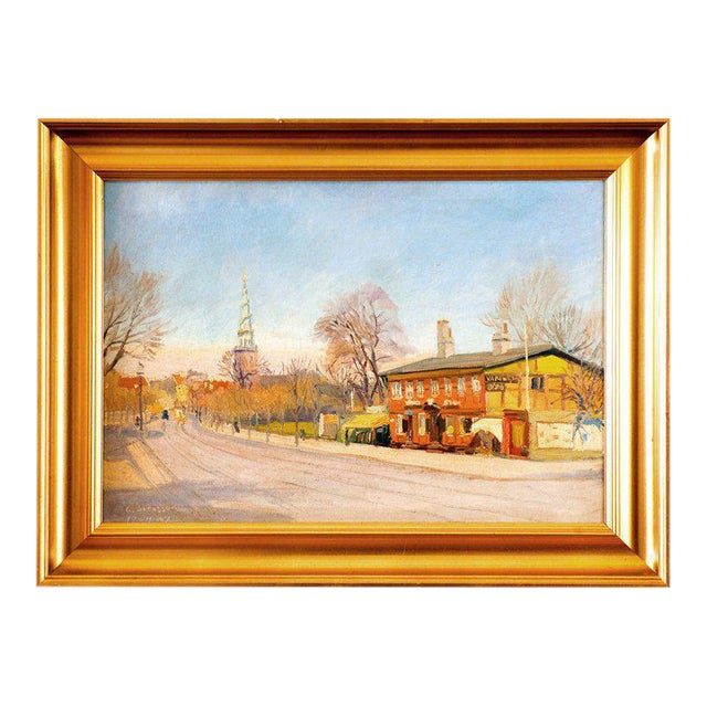 Oil Painting by G. Svensson 1934 For Sale