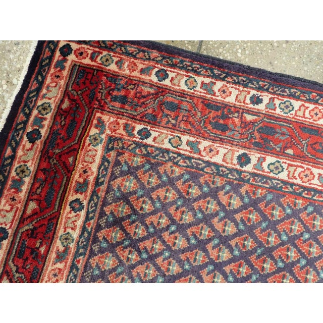 "Cotton Vintage Persian Malayer Rug – Size: 3'4"" X 5' 1"" For Sale - Image 7 of 10"