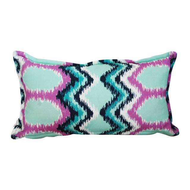"""""""Dynasty"""" Flame Stitch Lumbar Pillow - Image 1 of 3"""
