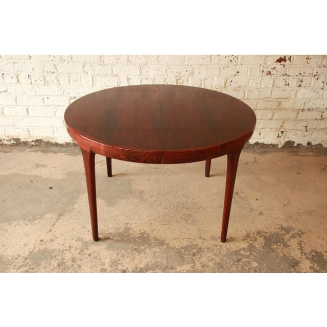 Mid 20th Century Ib Kofod Larsen Rosewood Extension Dining Table For Sale - Image 5 of 11