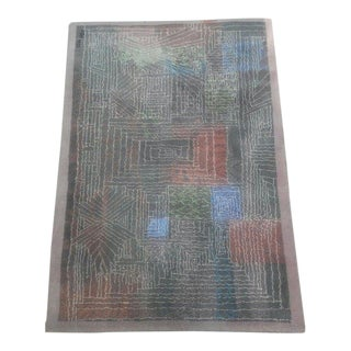 1980s Scandinavian Paul Klee Modern Art Rug - 4′7″ × 6′8″ For Sale