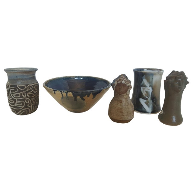 Studio Pottery Kitchen Collection - Set of 5 - Image 1 of 4