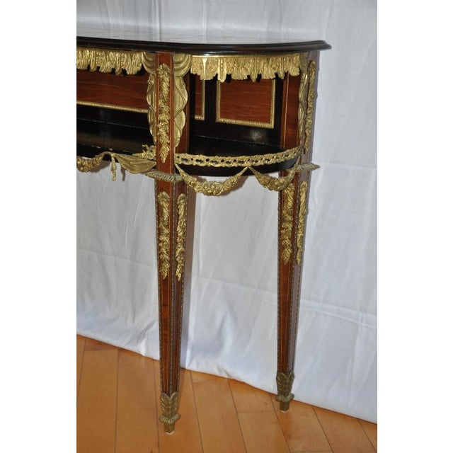 White Antique Louis XVI Style Console After Design by Jean-Henri Riesener For Sale - Image 8 of 13