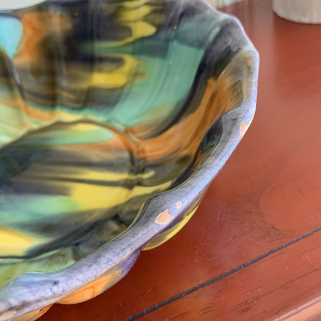 Groovy Handmade Pottery Vintage Bowl For Sale - Image 11 of 13