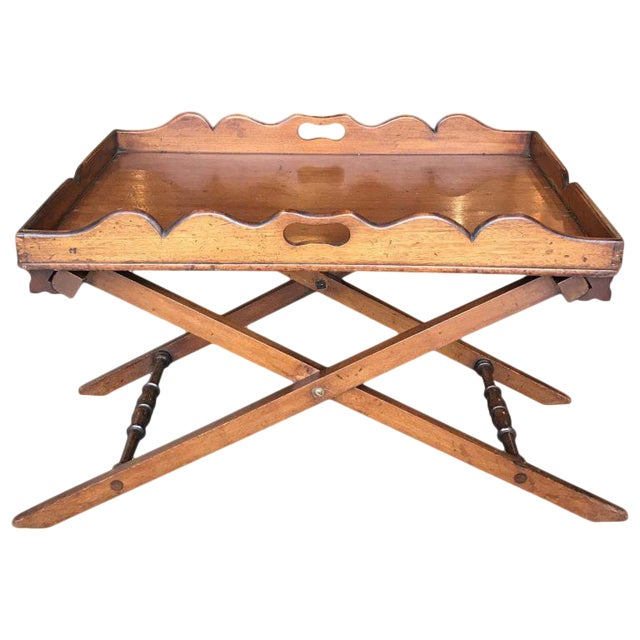 19th C. English Butler's Tray For Sale