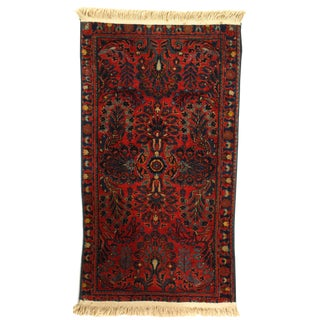 1920s Vintage Persian Sarouk Rug - 2′ × 3′8″ For Sale