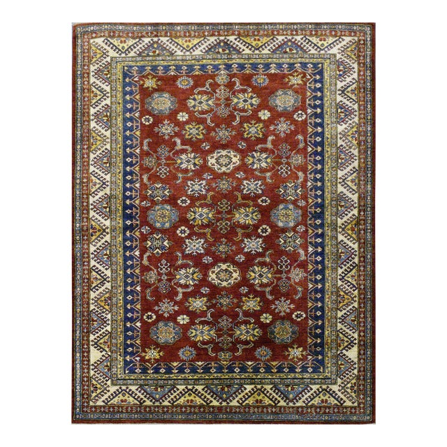 Afghan Super Kazak Rug - 5'9'' x 7'9'' For Sale