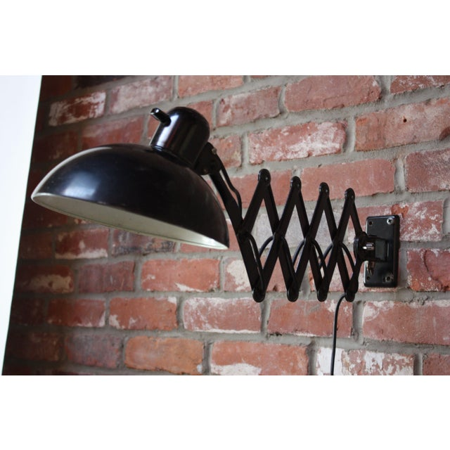 Christian Dell for Kaiser Extendable Wall Lamp For Sale - Image 10 of 10