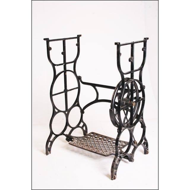 Vintage Industrial Black Iron Treadle Sewing Machine Base - Image 2 of 11
