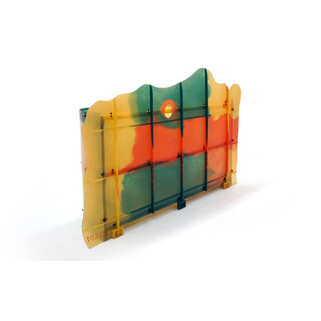 "Red Gaetano Pesce ""Nobody's Perfect"" Multi-Color Resin Sideboard For Sale - Image 8 of 13"