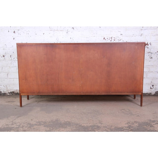 Paul McCobb for Calvin Linear Group Walnut Sideboard Credenza For Sale - Image 11 of 12
