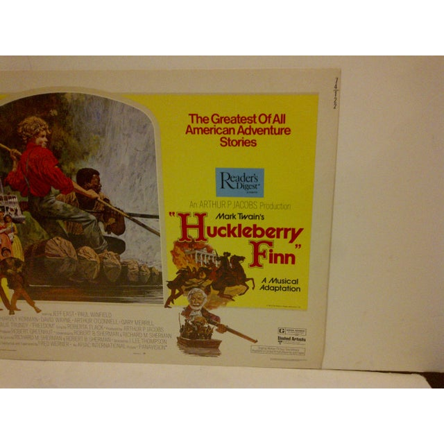 "Vintage Movie Poster ""Huckleberry Finn"" a Musical Adaptation - 1974 - Image 4 of 5"