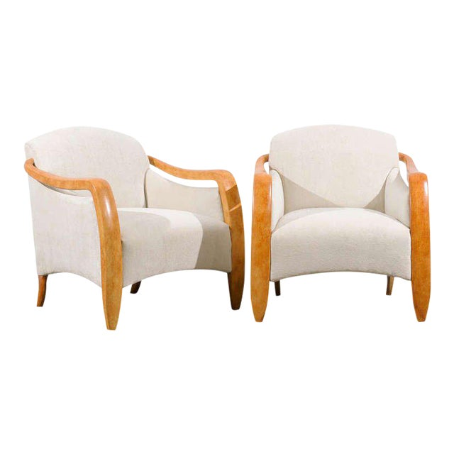 Jaw-Dropping Restored Pair of Modern Club Chairs For Sale