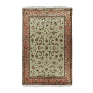 """Tabriz Wool and Silk Persian Rug-5'2"""" X 6'8"""" For Sale"""