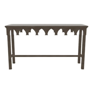 Oomph Ocean Drive Outdoor Console Table, Dark Gray For Sale