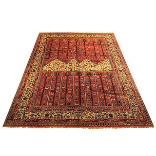 Shiraz - Early 20th Century Antique Persian Gabbeh Rug - 8′8″ × 11′2″ For Sale